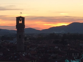 Sunset from the Torre Guigini