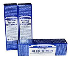 Dr. Bronner peppermint toothpaste