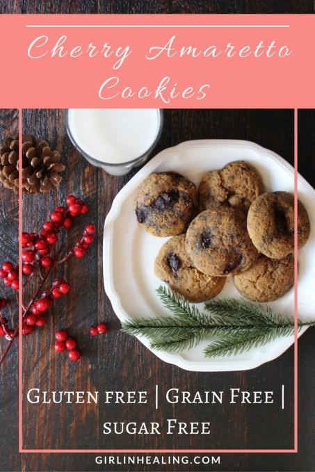 Gluten, Grain, Sugar Free Cherry Amaretto Cookies
