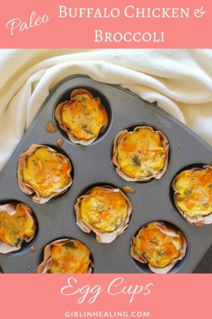 Buffalo Chicken & Broccoli Egg Cups: Gluten Free, Grain Free, Dairy Free, Paleo, Easy Breakfast Recipes, Paleo Recipes, Quick Breakfasts