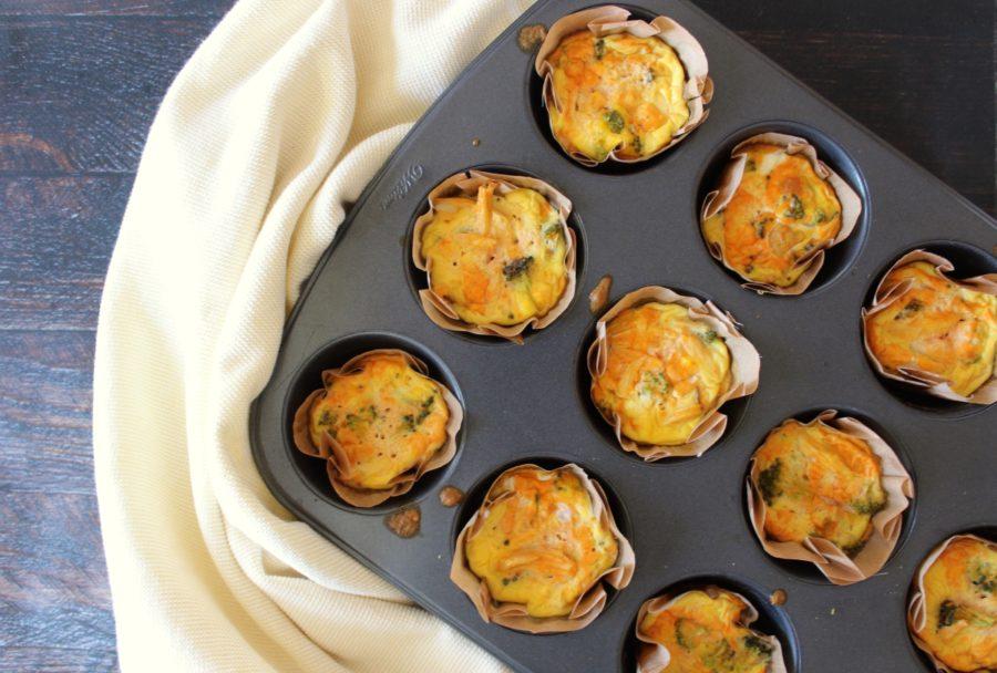 Buffalo Chicken & Broccoli Egg Cups: Gluten Free, Grain Free, Dairy Free, Paleo, Easy Breakfast, Breakfast to go, Paleo Recipes, Gluten Free Recipes