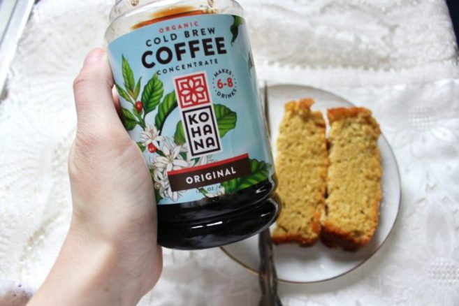 Coffee & Sliced Coffee Tea Bread: Grain & Refined Sugar Free