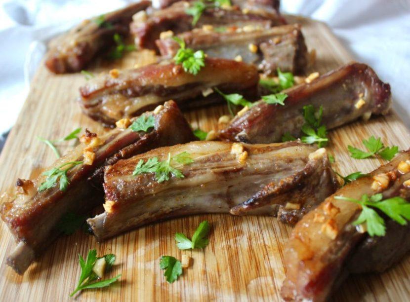 Garlic Lamb Riblets (Paleo, Whole30)