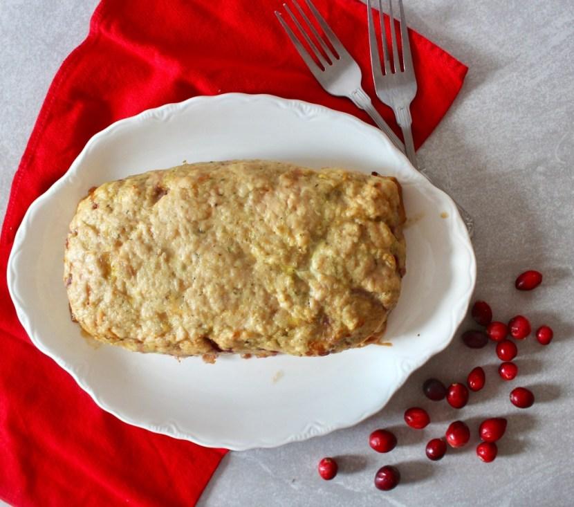 Cranberry Sauce Turkey Meatloaf (Gluten Free, Grain Free, Dairy Free, Paleo)