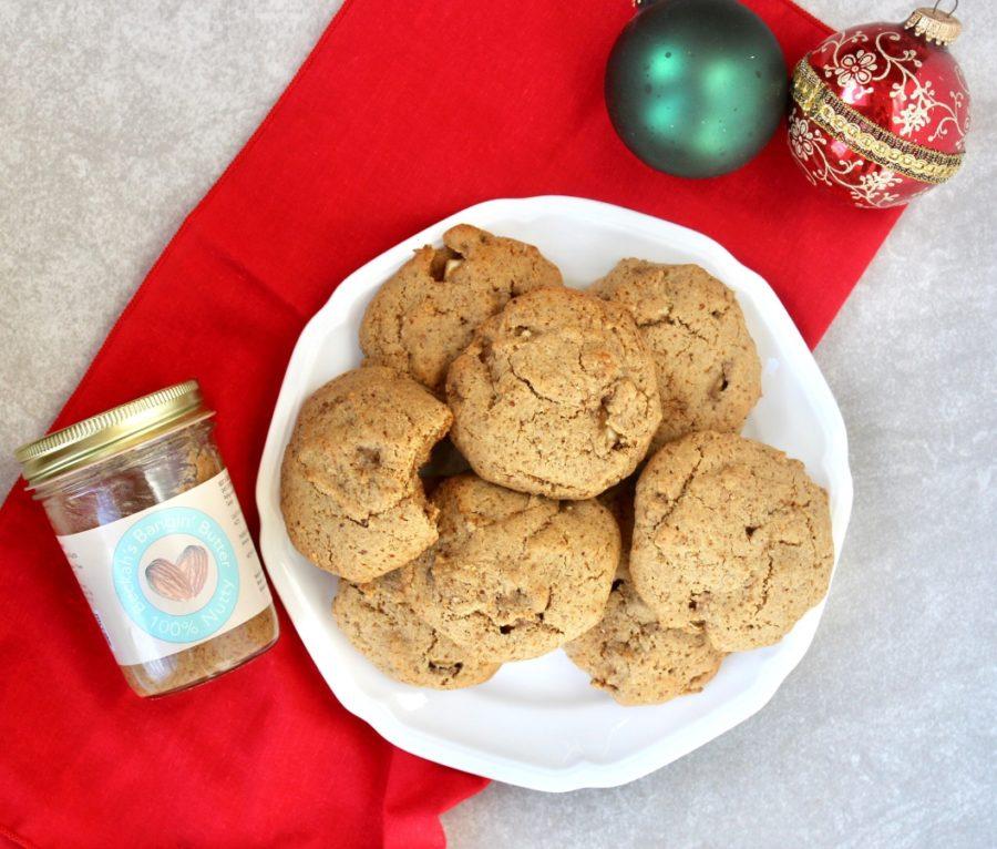 Grain Free Almond Butter Apple Cookies (Dairy Free, Paleo)