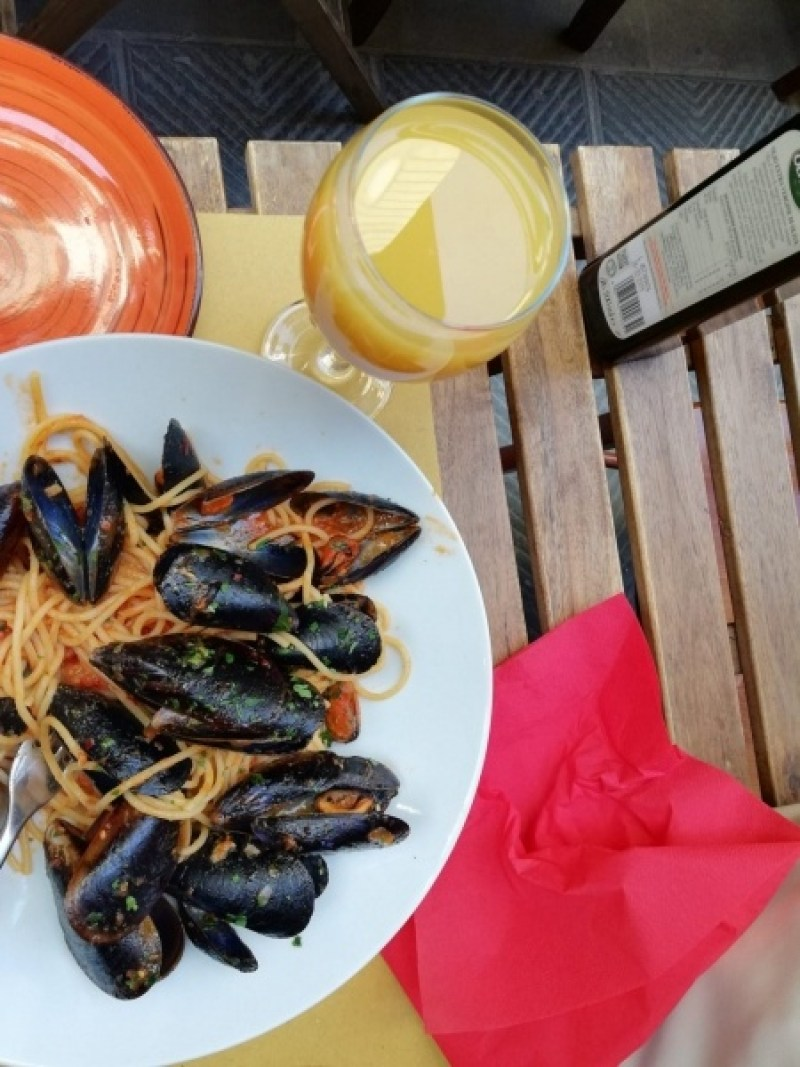 Cozze and Pasta in Florence