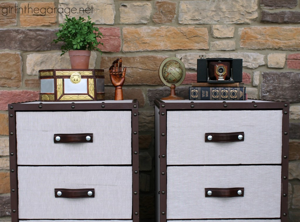 PB Inspired Trunk Bedside Table Makeover Girl In The Garage