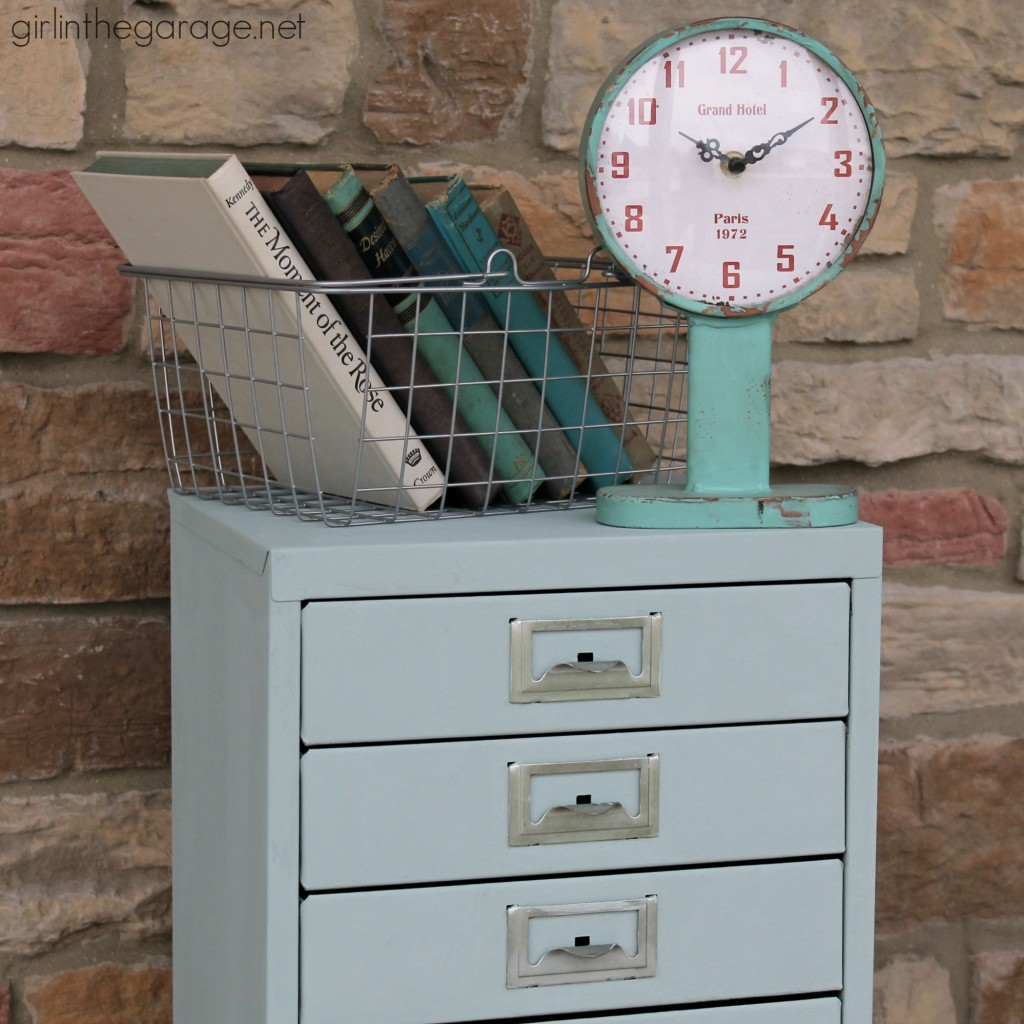 Painted Metal Cabinet Makeover Girl In The Garage