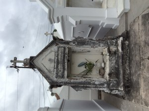 Above ground tomb in New Orleans cemetery