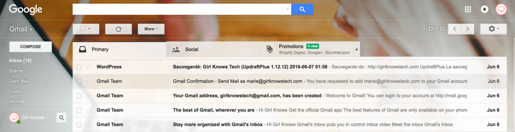 Gmail Account - how to start a blog