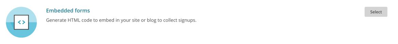 MailChimp - Embedded Forms