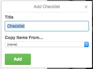 Add a checklist trello