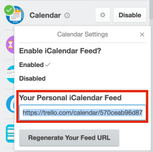 Add Trello to Google Calendar