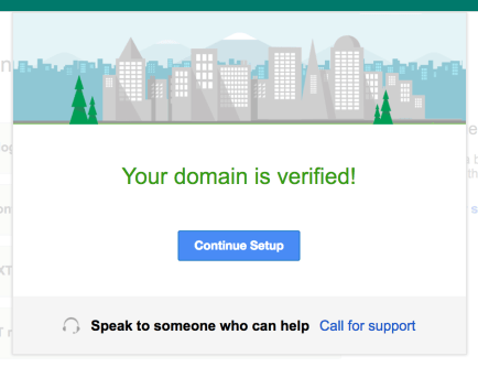 G Suite Domain Verified