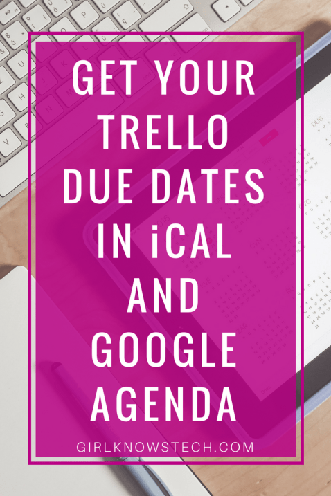 Learn how to get your Trello due dates directly in your Apple Calendar! Never miss a deadline again and be productive! #trello #calendar #productivity
