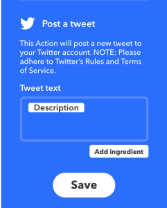 schedule tweets - ifttt description