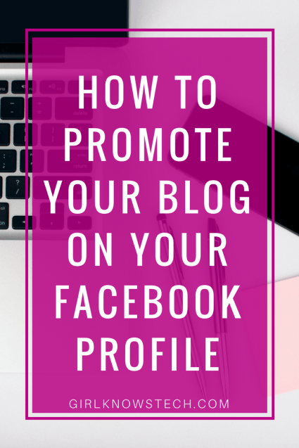 Learn how to promote your blog and business on your Facebook profile so you don't miss out on visibility! Get your blog and business more visible on Facebook. #blogging #bloggingtips #bloggers