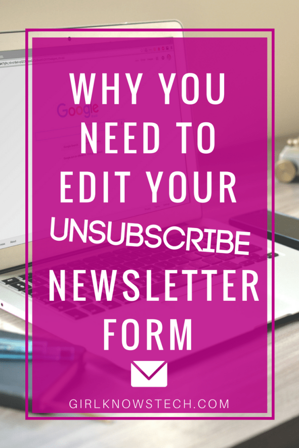 You absolutely need to edit the unsubscribe form of your newsletter. Why? People may not appreciate your emails, but they might still enjoy your latest blog posts! Keep them in the loop with this simple trick I share with you in the blog post!