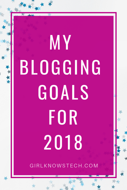 My Blogging Goals For 2018! Let's set realistic goals for this new year and make sure they do happen! #goals #blogging #newyear