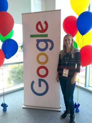 Marie-Philippe at the Google sign