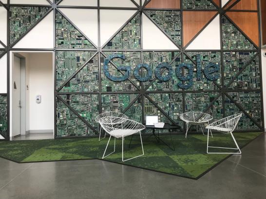 L'entrée de Google aux bureaux de Sunnyvale