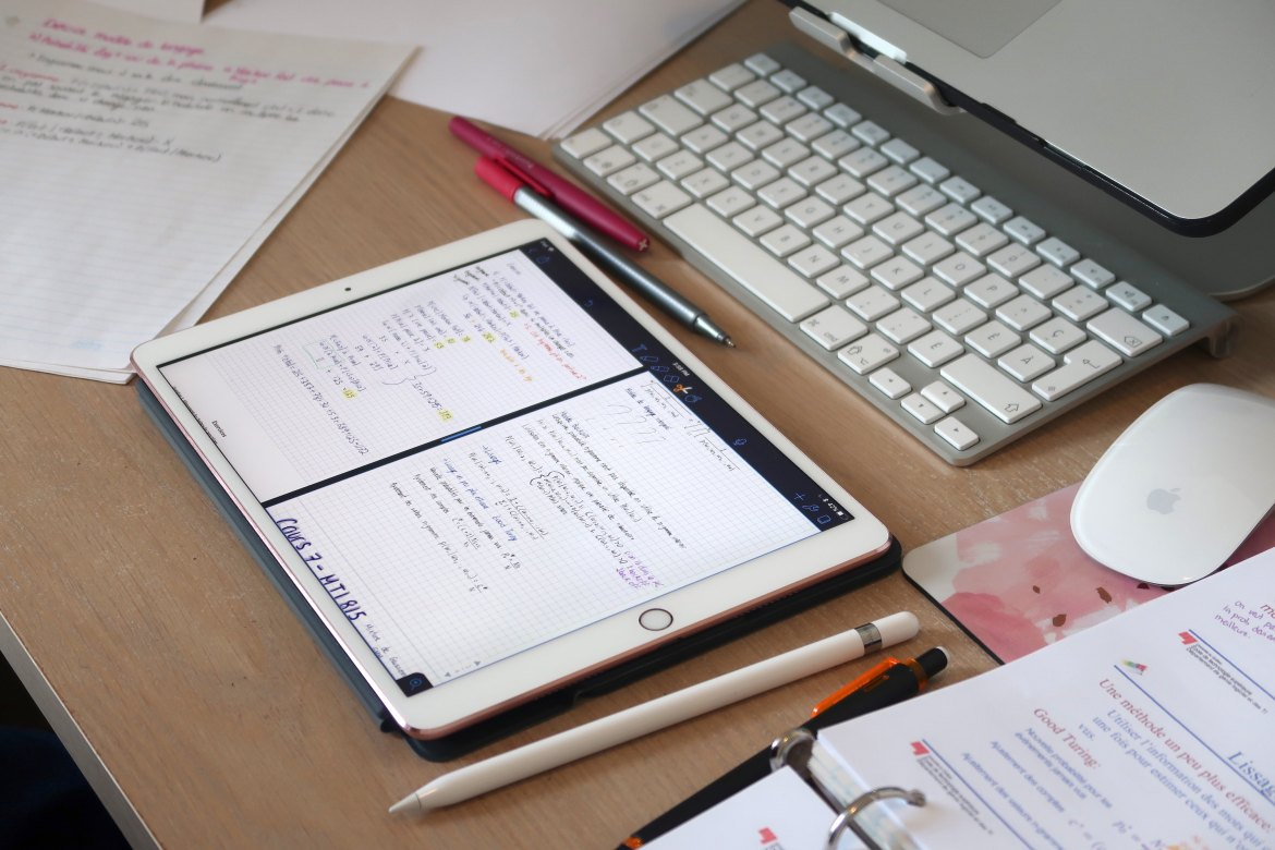iPad with handwritten notes with the Apple Pencil - Study For Long Hours