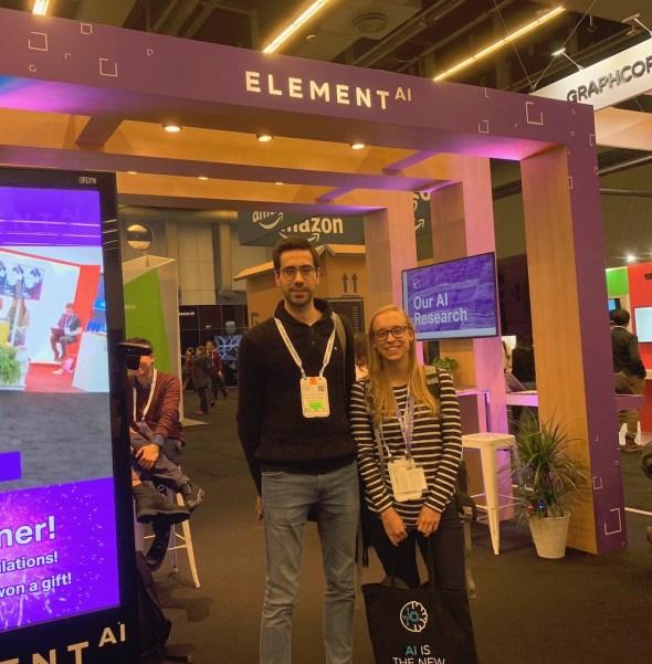 Kiosque de Element AI à NeurIPS