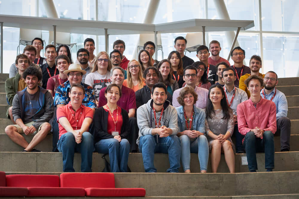 Team picture of the people who participated in the 2019 summer school with Johns Hopkins University for the JSALT workshop