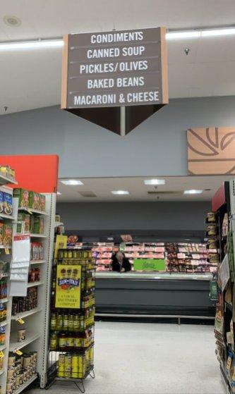 Il y a tellement de sortes de Mac & Cheese que ça mérite mention dans l'allée!