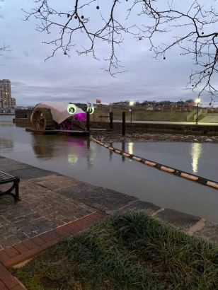 Picture of Mr Trash Wheel in Baltimore at Inner Harbor