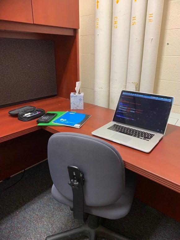 Mon bureau pendant mon stage de recherche à JHU