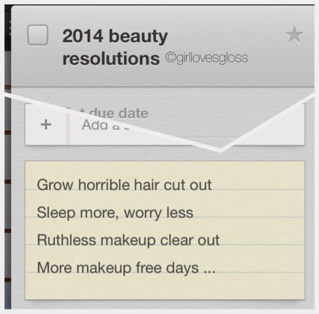 RESOLUTIONS | 2014 Beauty Edition