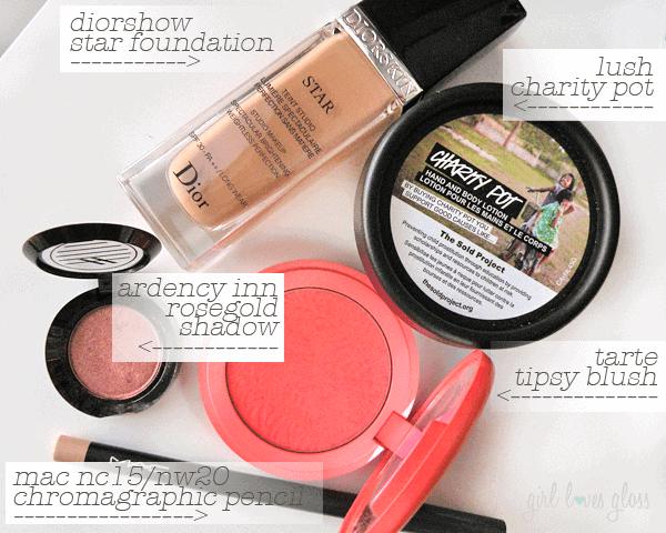 october 2014 beauty favourites girllovesgloss.com dior tarte lush ardency inn mac