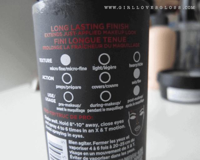 L'Oreal Infallible makeup Extender Setting Spray on girllovesgloss.com