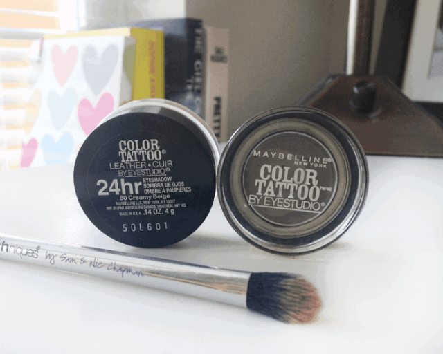 maybelline color tattoo tough a taupe creamy beige Mac Groundwork dupe