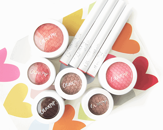 ColourPop cosmetics review eyeshadow, blush, lippie stix, swatches