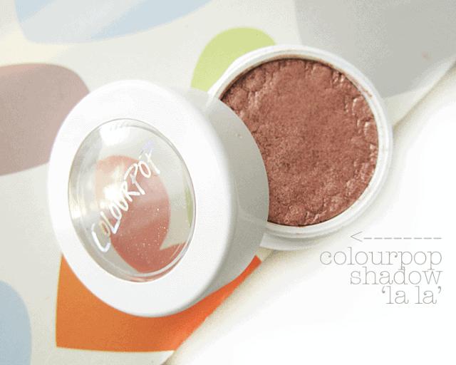Colourpop.com cosmetics la la rose gold eyeshadow