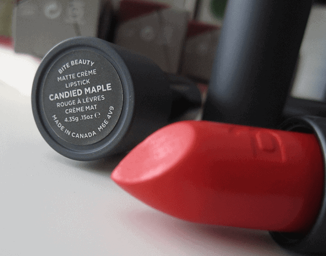 Bite Beauty Canadian Maple Collection Matte Creme Lipstick review swatch