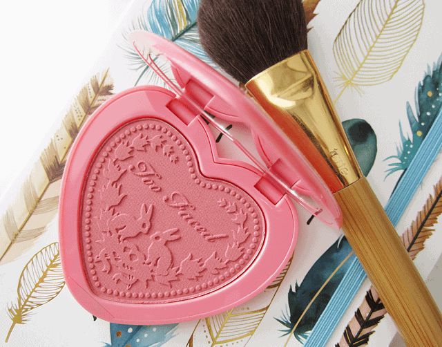 too faced love flush blush in love hangover review and swatch