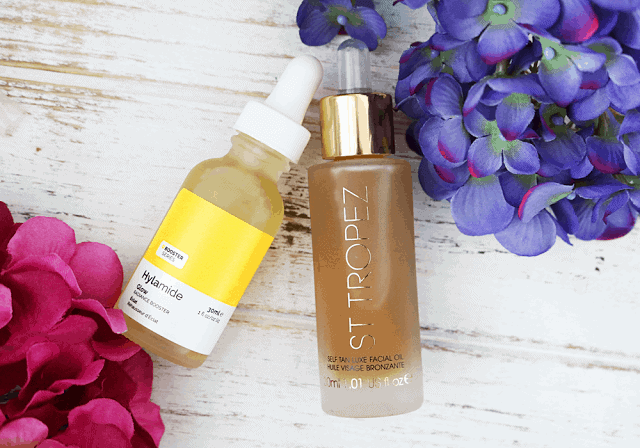 Hylamide Glow Booster and St Tropez Luxe Facial Oil