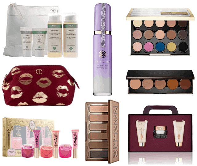 2015 Holiday Beauty Gift Guide Under $75. Becca, Tatcha, Urban Decay, Charlotte Tilbury, REN, Too Faced
