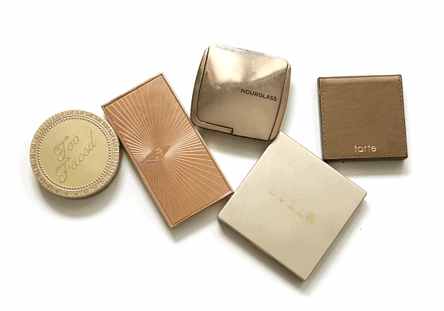 Five Favourite Bronzers: Hourglass, Too Faced, Tarte, Stila, Charlotte Tilbury