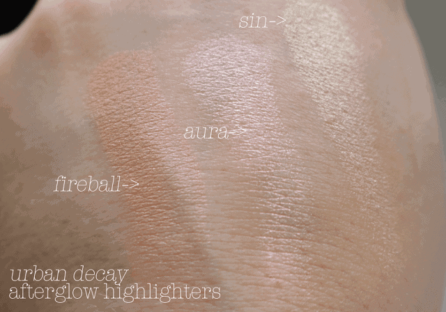 Urban Decay Afterglow Highlighting Powder Review and Swatch