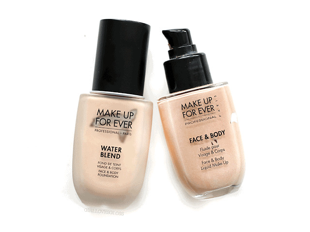 Make Up For Ever Water Blend Foundation Review and Comparison to Face and Body