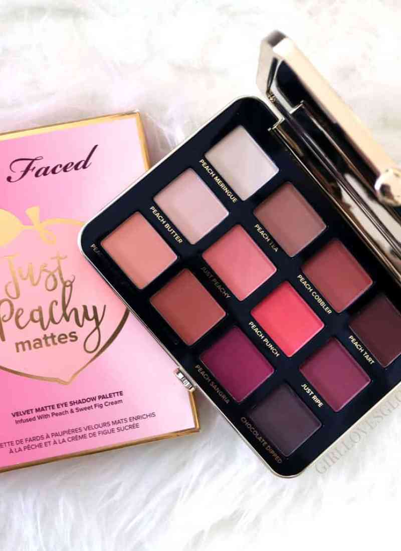 Too Faced Just Peachy Mattes Palette Review and Swatches