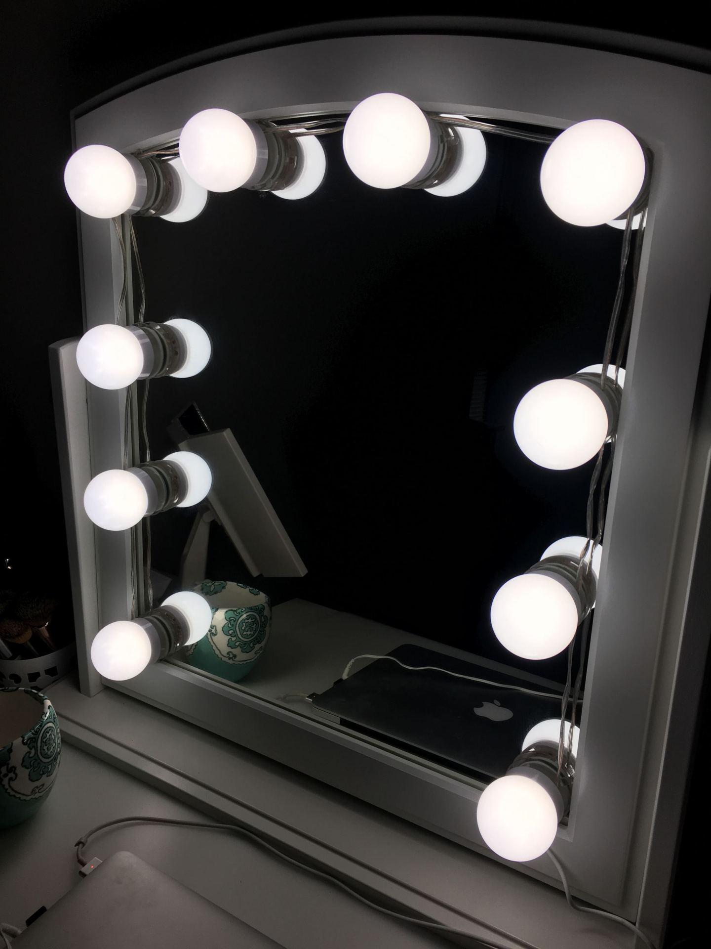 Ikea LED Vanity Mirror Hack DIY