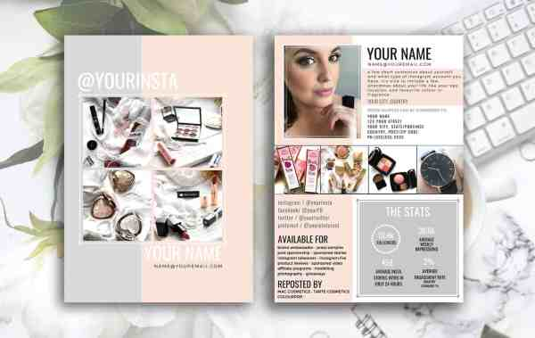 Instagram Influencer 2 Page Media Kit - PEACHES