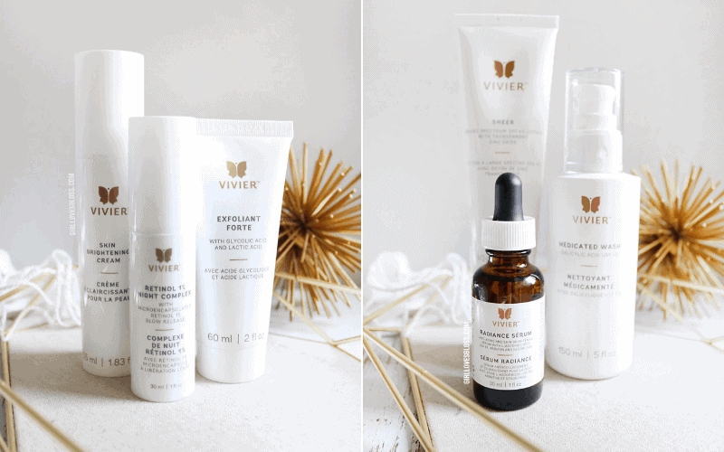 "My First Facial Peel | Introduction to Vivier Skincare Introduction to Vivier Skincare and my First Chemical Peel You guys know I am a skincare fanatic, right? I wasn't always though. I'm 35, and at some point about 5 years ago I realized that if I didn't start taking care of my skin, it wasn't going to take care of me. What a cruel reality, am I right? So over the last few years, I've been on a journey with my skin. It has presented me with some challenges, and I'm taking charge of my future so to speak when it comes to having beautiful skin for years to come! I recently got the chance to partner with Vivier to not only experience my first facial peel, but have a skincare lineup put together catered to my skin needs! Introduction to Vivier Skincare and my First Chemical Peel Introduction to Vivier Skincare and my First Chemical Peel An Introduction to Vivier Skincare With the concept of strong scientific backing and innovative ingredients, Vivier was created by Jess Vivier after 30 years in the pharmaceutical industry. Amongst some of the most impressive product offerings, it's worth noting that Vivier vitamin C serums are formulated with the highest and purest grade of Vitamin C available! Vivier aims to offer it's customers premium, pharmaceutical skincare to prepare, target, moisturize and protect your precious skin. Beyond the beauty, Vivier has made sure its business practices are cruelty-free, outer packaging is sustainable SFI certified and only use biodegradable microbeads. Introduction to Vivier Skincare and my First Chemical Peel My Experience with the Vivier Peel What is it: A gentle yet effective professional combination peel that helps refresh, brighten, tighten and illuminate the appearance of the skin. Ideal for ageing skin, age spots, dehydrated skin, skin imperfections, oily skin, congested skin and acne-prone skin. Active ingredients: 10% Lactic Acid USP | 2% Salicylic Acid USP | 14% Resorcinol USP What are the benefits: Effective, predictable and controlled micro-exfoliation Safe, non-invasive and self-neutralizing Ideal for patients seeking little to no downtime Can be performed as a quick 15-minute stand-alone peel or as an extended Vivier professional facial protocol Enriched with Peptides and Panthenol Perfectly complements Vivier home care Ideal for a wide range of mild to moderate skin conditions Introduction to Vivier Skincare and my First Chemical Peel How was my experience: Given that I had never had any sort of peel before, I was a mix of intrigued and possibly a little nervous as I walked into Anti Ageing Medical and Laser here in Vancouver! Not only is the clinic bright and inviting but the list of services were extensive. My visit started by filling out a questionnaire to check for any sort of medical concerns, contraindications or points of concern. Then I had some before pictures taken so that they could keep progress on file for any future visits. ""The Beauty of Results"" Upon entering the facial room, Isabelle who applied my Vivier Peel talked me through the product and answered any questions I had. I told her about my current skin concerns, which were pigmentation, dryness and hormonal breakouts. She explained that one of the reasons the Vivier Peel was such a great introduction to peels is because it has none or minimal downtime. Since it is self-neutralizing, there is no need to rinse it off afterwards and she was able to go right in with the Vivier Ultra Hydrating Mask, which felt absolutely heavenly! After cleansing my skin and toning, she applied the Vivier Peel in two layers to target some trouble areas. I felt no burning or tingling or any sort of sensitivity but my skin felt instantly so smooth! After removing the mask, she went in with the Sheer Broad Spectrum SPF 45 to protect my skin as I headed back out into the Vancouver sunshine. One week later, I've had some very mild peeling which has no doubt been in part to the cold snap of weather we've had through Vancouver. I had two red marks from recent breakouts that have been healing up significantly since the peel and haven't had a single breakout since! The Vivier Hyperpigmentation Program (Non-Hydroquinone) Part of my partnership with Vivier was to have my skin assessed and have a Vivier Program chosen just for my skin concerns. How could I say no? The opportunity to have an expert take a look at my skin and listen to my concerns was amazing, but thankfully Vivier has several programs that make it easy for anyone to target their skin concerns and treat them! We decided on the Hyperpigmentation Program (Non-Hydroquinone) because it was a gentle entry into tackling hyperpigmentation and antiageing. On top of that, I will be adding in some gentle, hydrating products to combat my dry skin at the same time. In the Hyperpigmentation Program, you get (in the most gorgeous carrying case, might I add!) Medicated Wash – This is a bit much for my dry skin on a daily basis so I will be balancing with the Hexam Cleanser Radiance Serum – The girls at the clinic were all a titter about this saying it was one of their fave Vivier products! Skin Brightening Cream – I'll be reaching for this on days when I don't use the next product. Retinol 1% Night Complex – To target the fine lines and pores. I'll be pairing this with the hydration of Lexxal Moisturizer for nights I use this. Exfoliant Forte – For my morning acid Sheer Broad Spectrum SPF 45 – Holy glow! This sunscreen gives me goddess skin vibes. I'll be protecting my skin with it every day. Introduction to Vivier Skincare and my First Chemical Peel As I've gotten deeper into my thirties, I've started to really concern myself with preventative skin care. Tackling the sins of my skin past like sun damage and post-breakout pigmentation are the utmost importance. I'd love to feel just a bit more confident in going makeup free! One of the things I loved about the experience was how the Vivier Programs make it easy to know which products not only target my concerns but work with each other. With the ala carte skincare trends of the last couple of years, it can be so overwhelming to know which ingredients play nice with each other! Vivier has made it easy to get the most effective skincare for your skin type and needs. I am so excited to take you guys on this skincare journey with me – watch this space!"