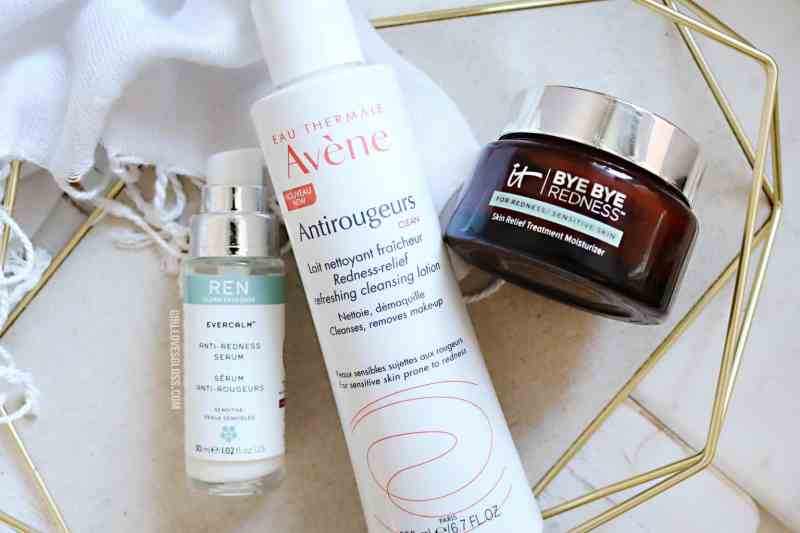 Products to relieve facial redness