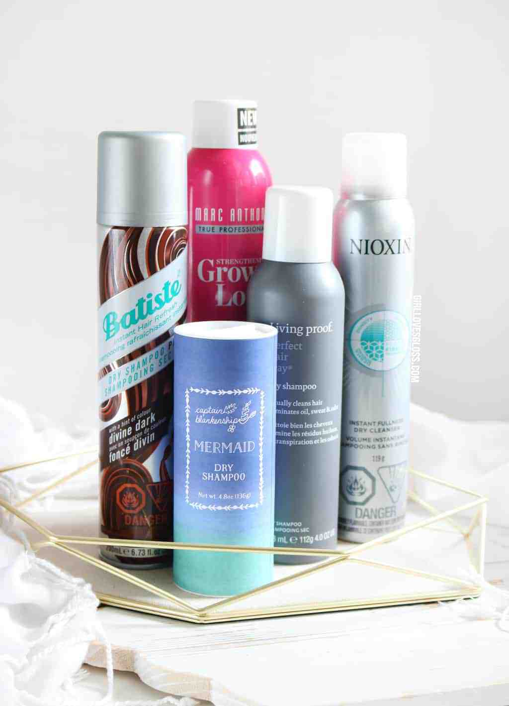 testing out 5 new and top dry shampoos